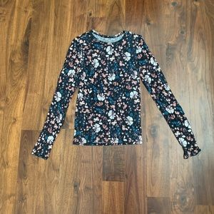 Aeropostale seriously soft floral long sleeve tee